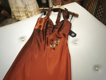 Load image into Gallery viewer, Satin bronze evening dress