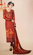 Load image into Gallery viewer, Brown & Yellow Printed Kameez