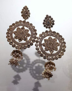 Gold Stonework Earrings