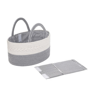 Baby Diaper Caddy, Diaper Organizer, Baby Organizer, Rope Basket, Nursery Storage, Changing Table Organizer, Baby Diaper Caddy Organizer, Portable Diaper Storage, Baby Shower Gift, Toy Storage (Grey)