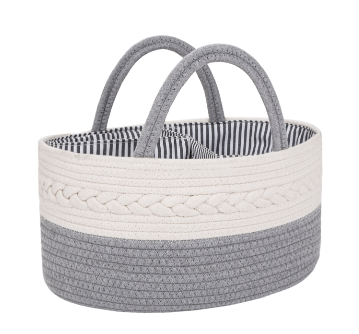 COMING SOON - ROPE BASKET DIAPER CADDY
