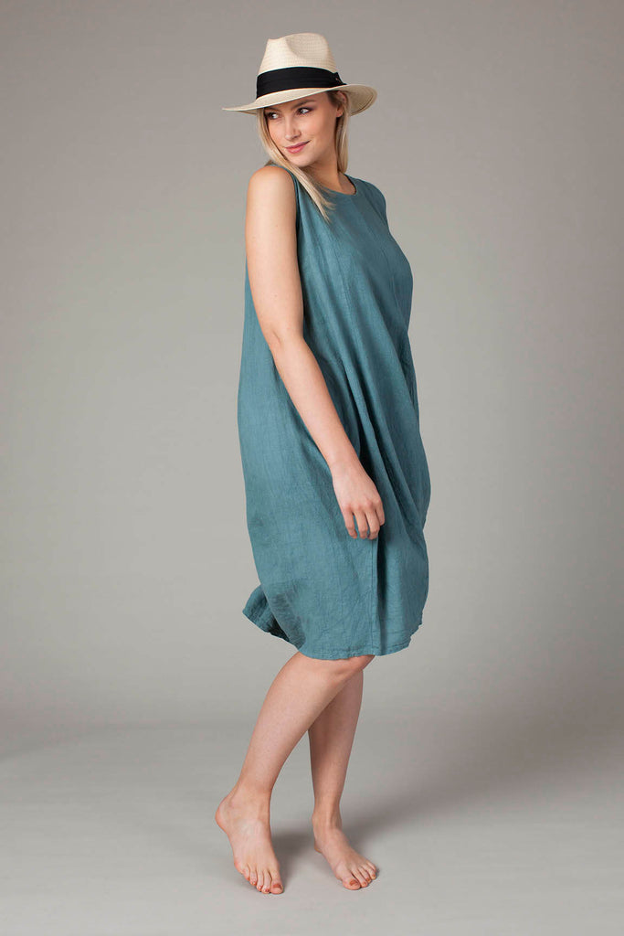 Tulip Linen Dress - Bird of Paradise London