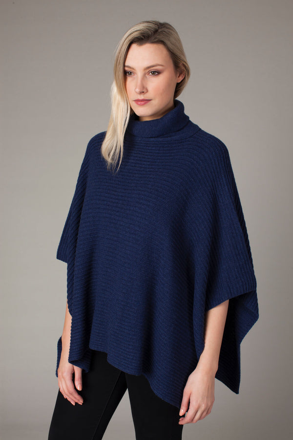 Polo Neck Poncho - Bird of Paradise London
