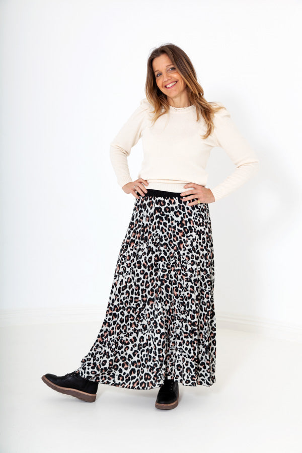 Large Leopard Print Skirt - Bird of Paradise London