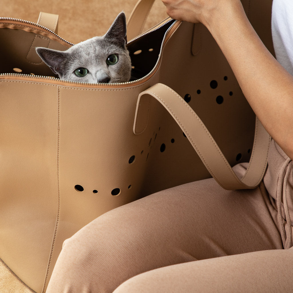 Noots Callisto Luxury Leather Cat Carrier