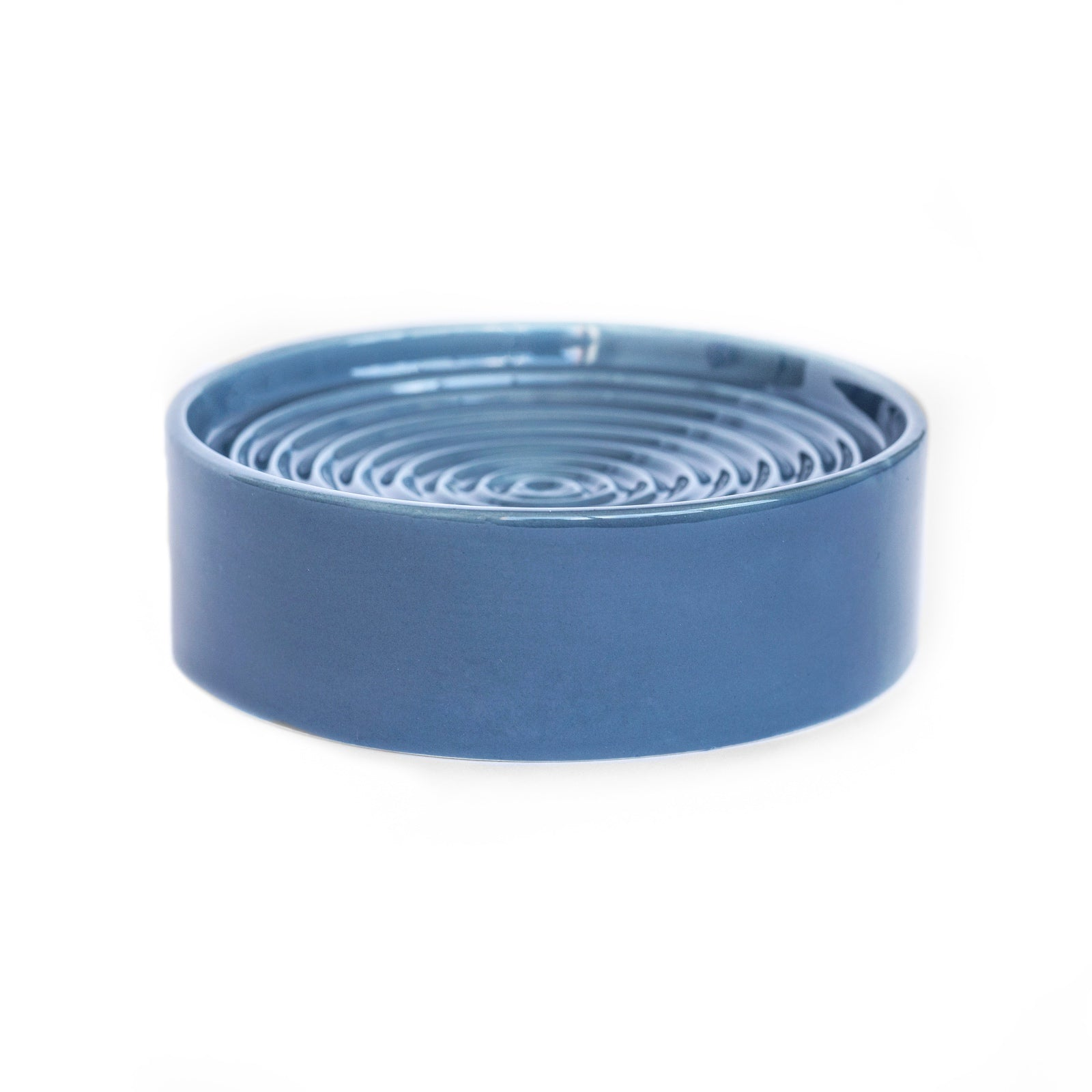 Noots Modern Ceramic Slow Feed Cat Bowl in Blue