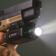Load image into Gallery viewer, iProtec RM230LSG Rail-Mount 230 Lumen Firearm Light and Sightable Green Laser