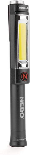 NEBO 500 Lumen Work Light, Steel Clip and Magnetic Base (Storm Gray)