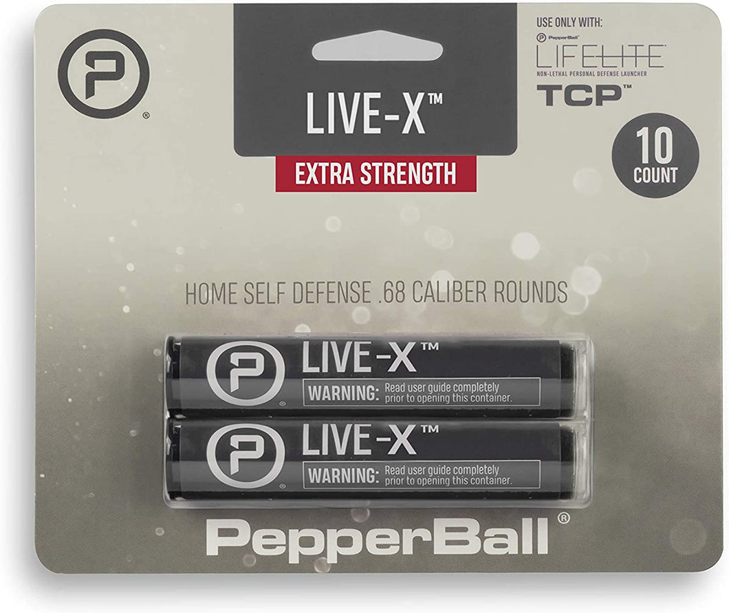 PepperBall Live-X Projectiles 10 Pack Extra Strength