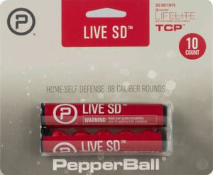 Pepperball Live SD Round Projectiles Refill Accessory Pack of 10 for Lifelite & TCP