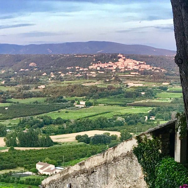 The stunning view from Lacoste, overlooking the village of Bonnieux. Photo by Kristen Baird.