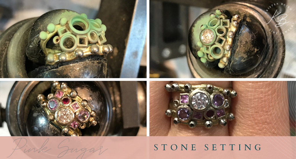 Commissions by Kristen Baird®_Pink Sugar Ring