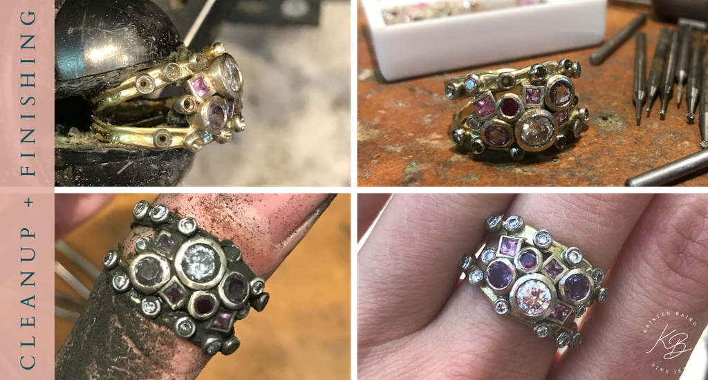Commission by Kristen Baird® Jewelry - Pink Sugar Ring Redesign