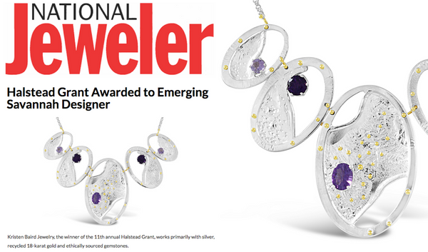 National Jeweler Announcement for Halstead Winner 2017, Kristen Baird