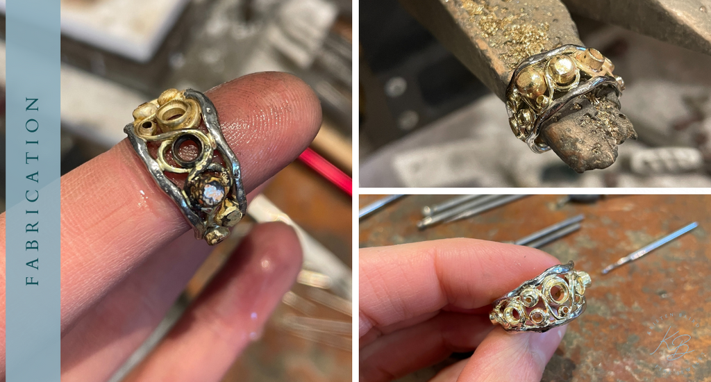 DNA Double Helix Ring Redesign Fabrication_Commission by Kristen Baird®