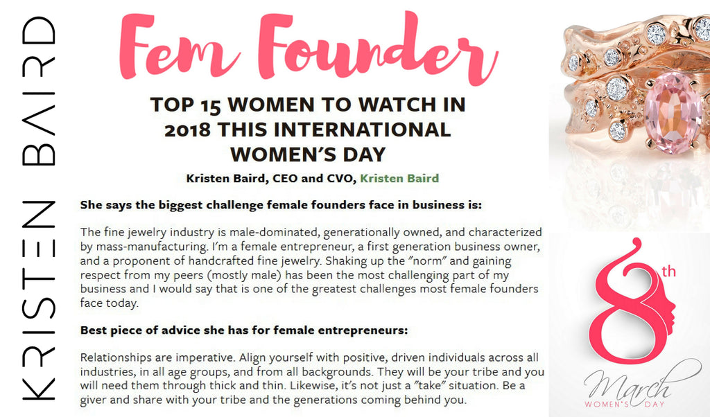 Fem Founder PR_Kristen Baird_Top 15 Women to watch in 2018