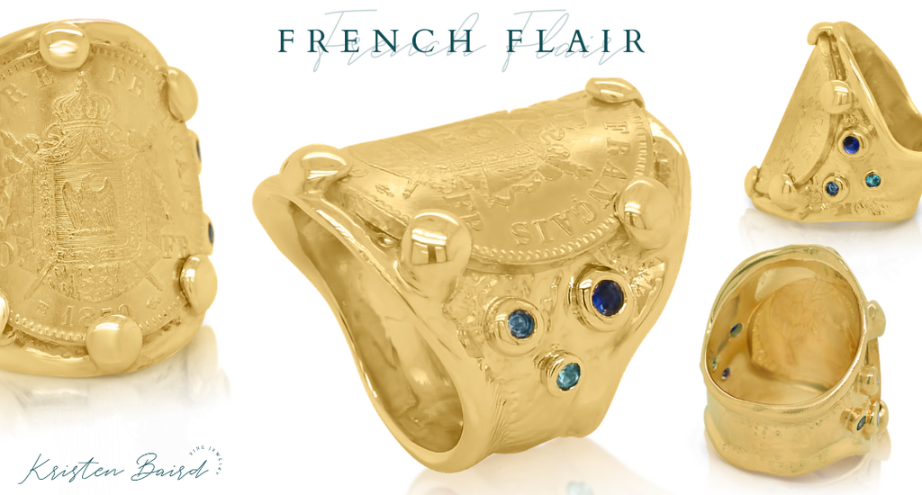French Flair Ring Redesign Final Piece - Commission by Kristen Baird®