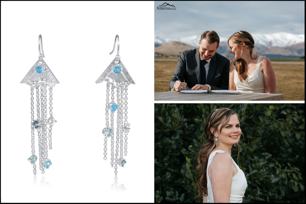 Glacier Bride Earrings Commission by Kristen Baird®