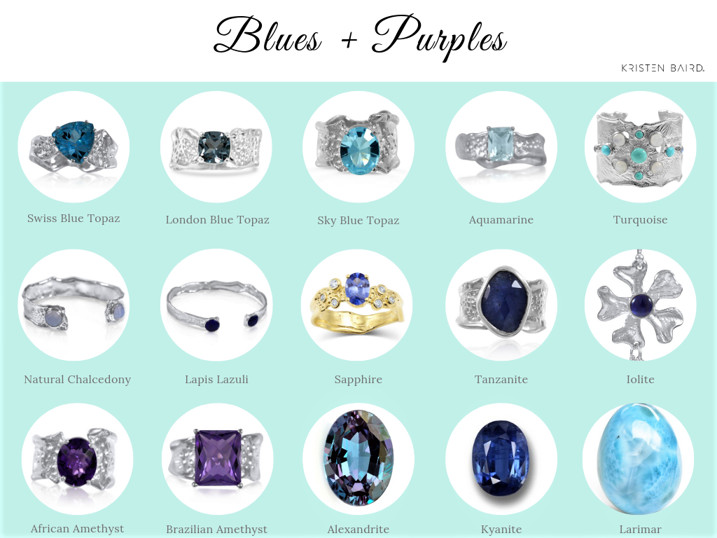 Blue and Purple Gemstones_Kristen Baird