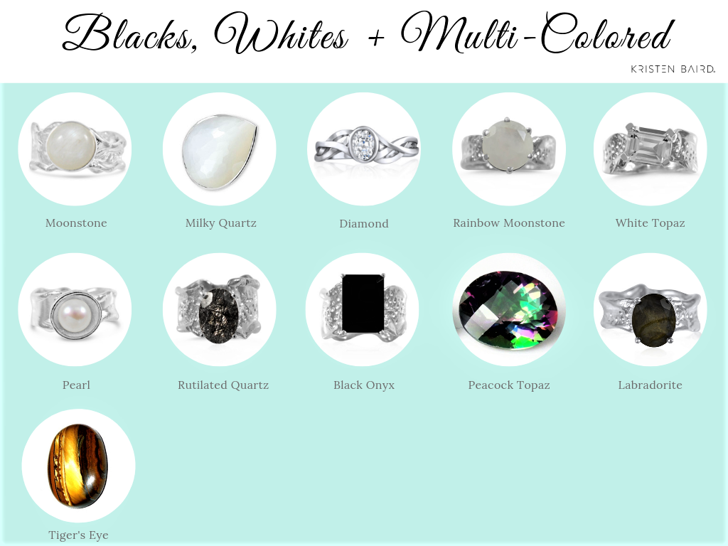 Black White and Multi-Colored Gemstones_Kristen Baird