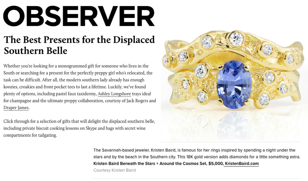 Observer Southern Belle Gift Guide with Kristen Baird