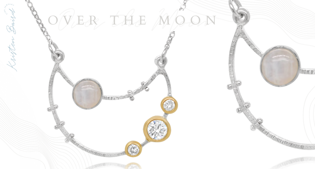 Over the Moon Necklace Redesign - Commission by Kristen Baird® Jewelry