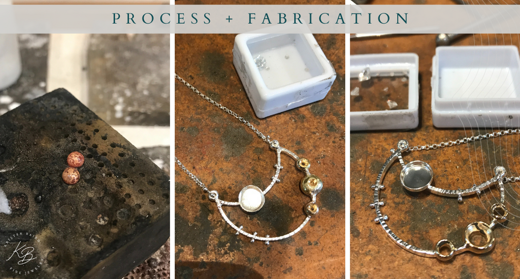 Over the Moon Necklace Redesign - Process + Fabrication - Kristen Baird®