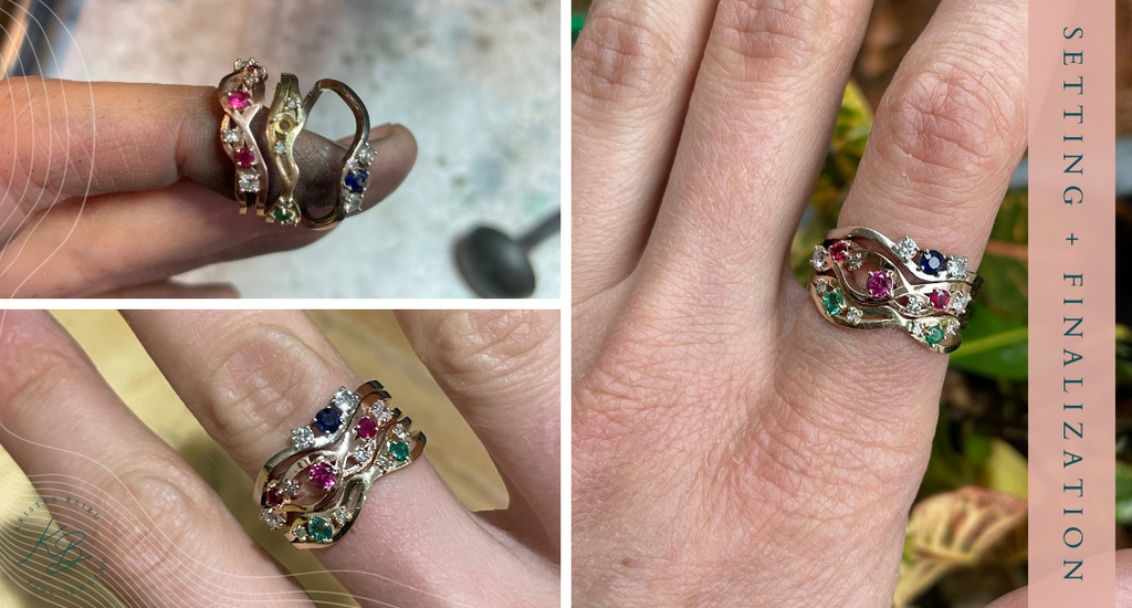 Radiant Rapids Ring Stack Setting + Finalization - Commission by Kristen Baird®