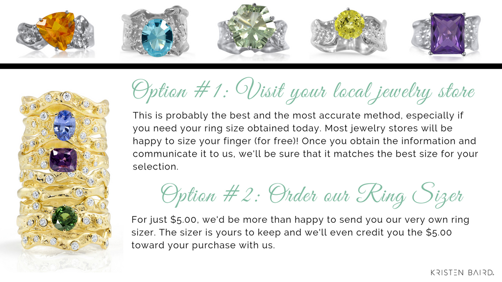 Ring Sizing Guide by Kristen Baird