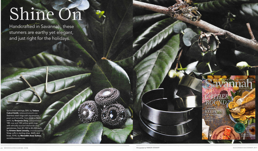 Savannah Magazine features Kristen baird, Savannah's Jewelry Designer
