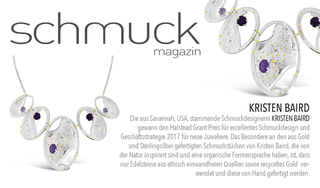 Schmuck Magazin+Kristen Baird Jewelry Press Release