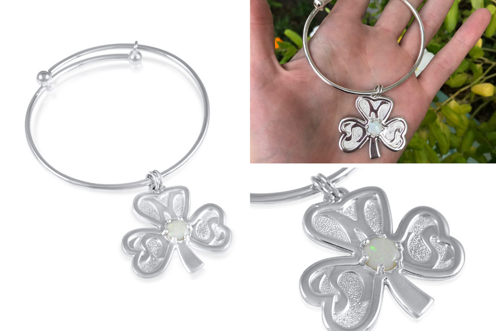 Shamrock Statement Bangle_Kristen Baird®