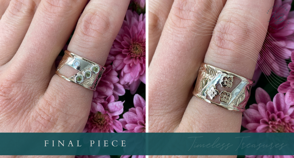 Timeless Treasures Ring Redesign_Commission by Kristen Baird®