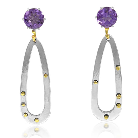 Teardrop Earrings Amethyst