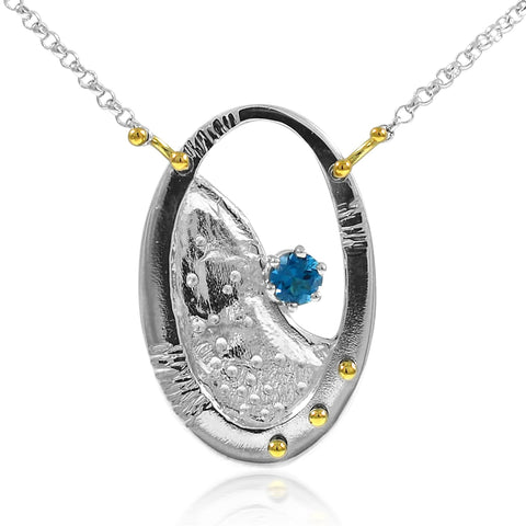 Shore Gem Necklace Blue Topaz