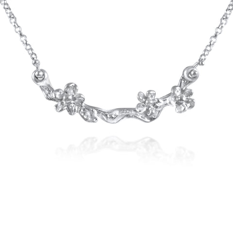 Fleur Précieuse Necklace in Sterling Silver by Kristen Baird®