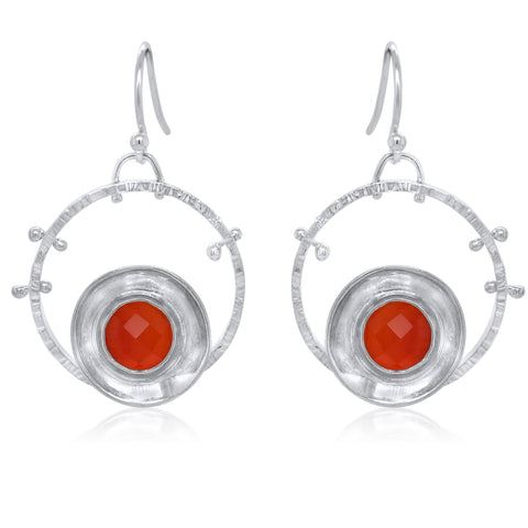 Aurora Earrings_Carnelian_Kristen Baird