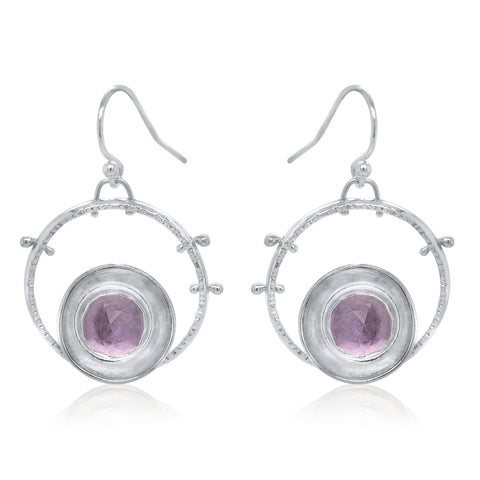 Aurora Earrings with Pink Amethyst by Kristen Baird®