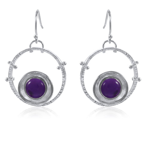 Aurora Earrings - Amethyst - by Kristen Baird