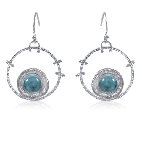 Aurora Earrings - Blue Topaz - by Kristen Baird
