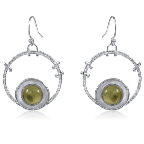 Aurora Earrings Lemon Quartz by Kristen Baird®