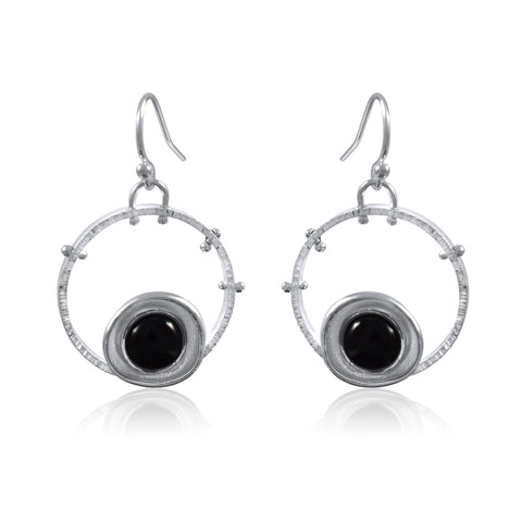 Aurora Earrings_Onyx_by Kristen Baird®