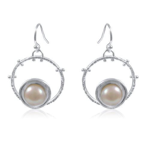 Aurora Earrings with Pearl
