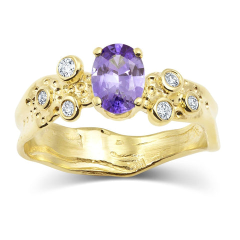 Beneath the Stars Ring_Violet Sapphire_Kristen Baird®