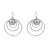 Orbit Earrings (Medium) with Pearl by Kristen Baird®
