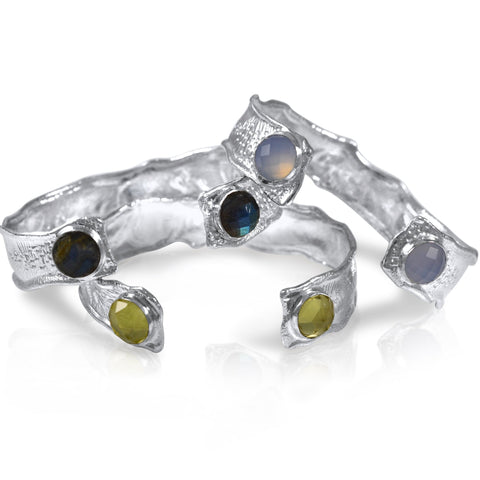 Splash 15mm Cuff (Two-Stone) Trio - by Kristen Baird®