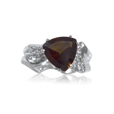 Ripple Ring Builder - 10mm Trillion Cut Smoky Quartz_by Kristen Baird®
