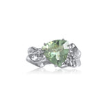 Ripple Ring Builder - 10mm Trillion Cut Green Amethyst_by Kristen Baird®