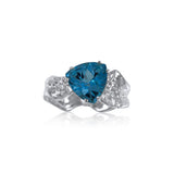 Ripple Ring Builder - 10mm Trillion Cut Blue Topaz_by Kristen Baird®