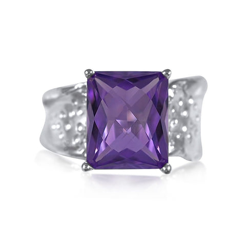Ripple Ring Builder 10x12 Emerald Cut_Brazilian Amethyst_by Kristen Baird®
